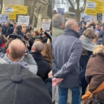 Unsafe Cladding: Protest Outside the Houses of Parliament